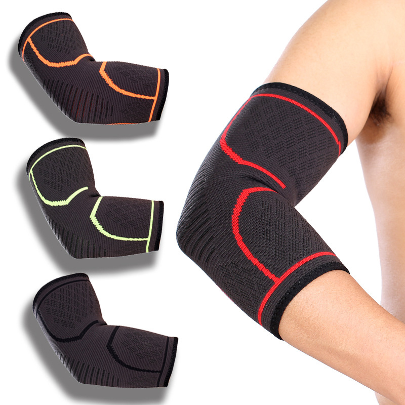 1PCS Elbow Support Elastic Gym Sport Elbow Protective Pad Absorb Sweat Sport Basketball Arm Sleeve Elbow Brace