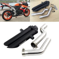 2004 2007 CBR1000RR Exhaust Pipe for Honda Motorcycle Front Mid Tail Pipe Slip On 51 mm Dual outlet Rear Escape Aluminum Alloy