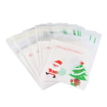 Hoomall 50PCs Christmas Self Sealing Bag Plastic Candy Cookies Pouches Gift Bag Self Adhesive Resealable New Year Gift Bags