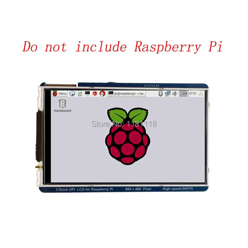 Raspberry Pi 3.5 Inch LCD 800x480 60fps TFT Screen HD HighSpeed LCD Module 3.5'' Display For Pi 3B+ 2B B+ Zero WH