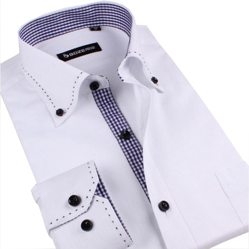 Online Get Cheap Mens White Shirt with High Collar and Buttons ...