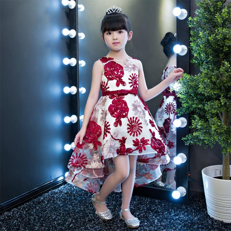 цена на 2017 New Luxury Girl Party Princess Dress Wedding Birthday Kids Ball Gown Princess Dress For Children 3-15T Pageant Tutu Dress