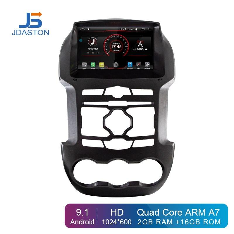 JDASTON Android 9.1 Jogador Do Carro DVD Para Ford Ranger 2Din F250 2011 2012 2013 2014 2015 de Navegação GPS Rádio Do Carro estéreo Multimídia