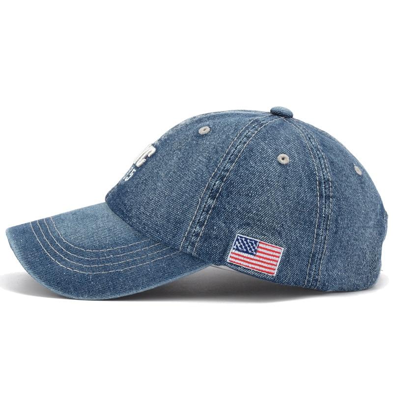 556487e71b5 New Brand NYC Denim Baseball Cap Men Women Embroidery Letter Jeans Snapback  Hat Casquette Summer Sports USA Hip Hop Cap Gorras-in Baseball Caps from  Apparel ...
