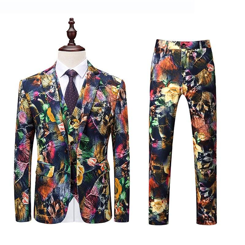 Mariage Suits Hommes Slim Q497 Floral Costumes Pièce La Nouveautés 5xl 2018 De Bal Fit Plus 3 Dîner Marié 6xl Taille Plyesxale Pour qSMVpUz