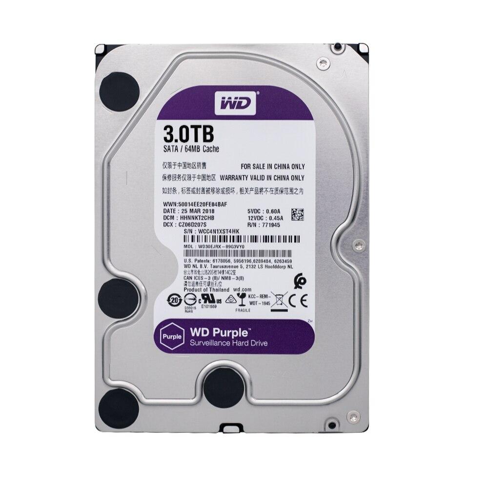 WD Hard-Drive 3TB SATA for Cctv-Camera AHD DVR NVR WD30EJRX