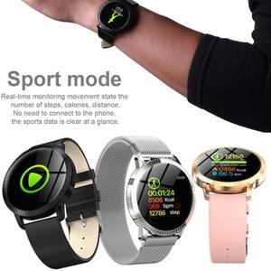Image 3 - AMYNIKEER CF18 Smart Bracelet Heart Rate Blood Pressure Monitor Pedometer Health Tracking Waterproof Mens  Womens Watch Band