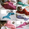 Fashion Super Soft Warm Hand-Crocheted Mermaid Tail Blanket Sofa Blanket ADULT Blankets Cute
