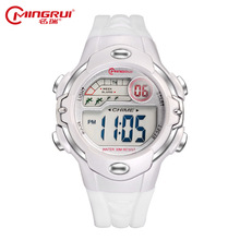 MINGRUI Fashion Kids Waterproof Silicone Digital Watch Children Watches