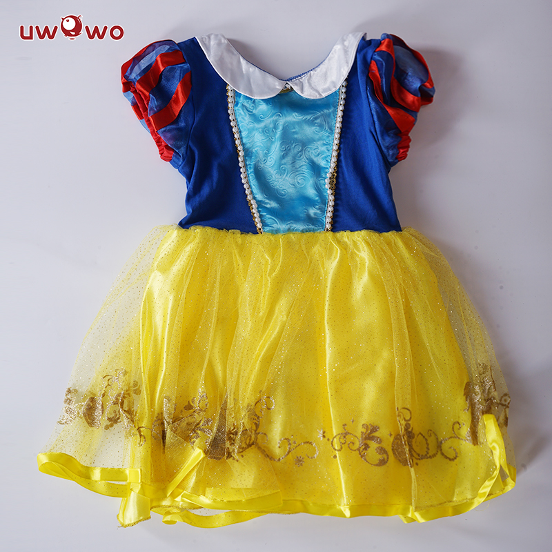 UWOWO Snow White Costume Girls Anime Cosplay Dress Halloween Costume For Kids Snow White Christmas Cosplay Dresses