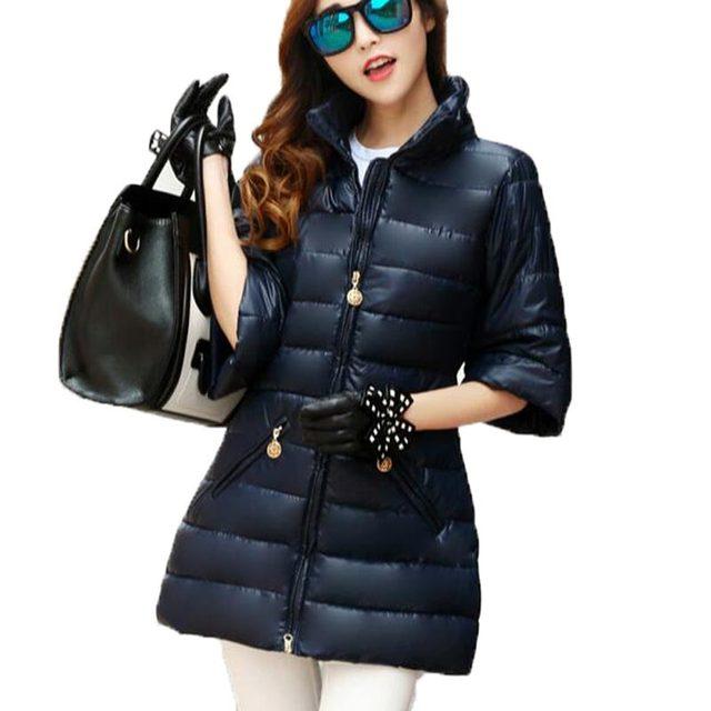 Mulheres jaqueta de inverno longo 2016 para baixo algodão-acolchoado mulheres jaqueta de forma magro espessamento wadded jaqueta outerwear CE0308