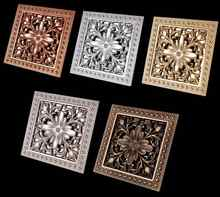5 Colors High quality 15cm*15cm antique brass square vintage art carved floor drain cover shower waste drainer bathroom accessor - DISCOUNT ITEM  15% OFF Home Improvement