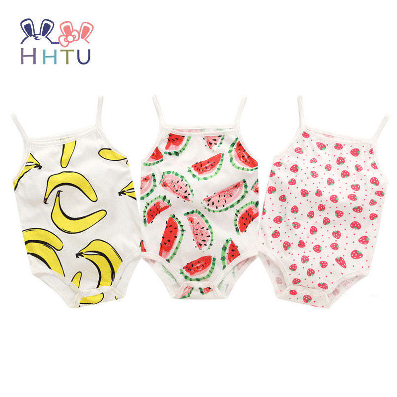 HHTU Baby Cute Rompers Summer Boys Girls Clothing Sets Flower Newborn Baby Clothes Jumpsuits Infant Clothing Sleeveless hhtu baby rompers long sleeve baby girls clothing jumpsuits children autumn newborn baby clothes cotton