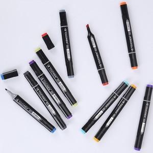 Image 4 - TOUCHNEW 168 Color Art markery Brush pióro do szkoły Dual Headed markery do rysowania Manga animacja Design Art Supplies