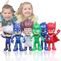 6 pcs Anime Figures PJ Mask Character Action Figures Catboy Owlette Model Toys Collectible Model Pjmask Toy Boy Birthday Gift