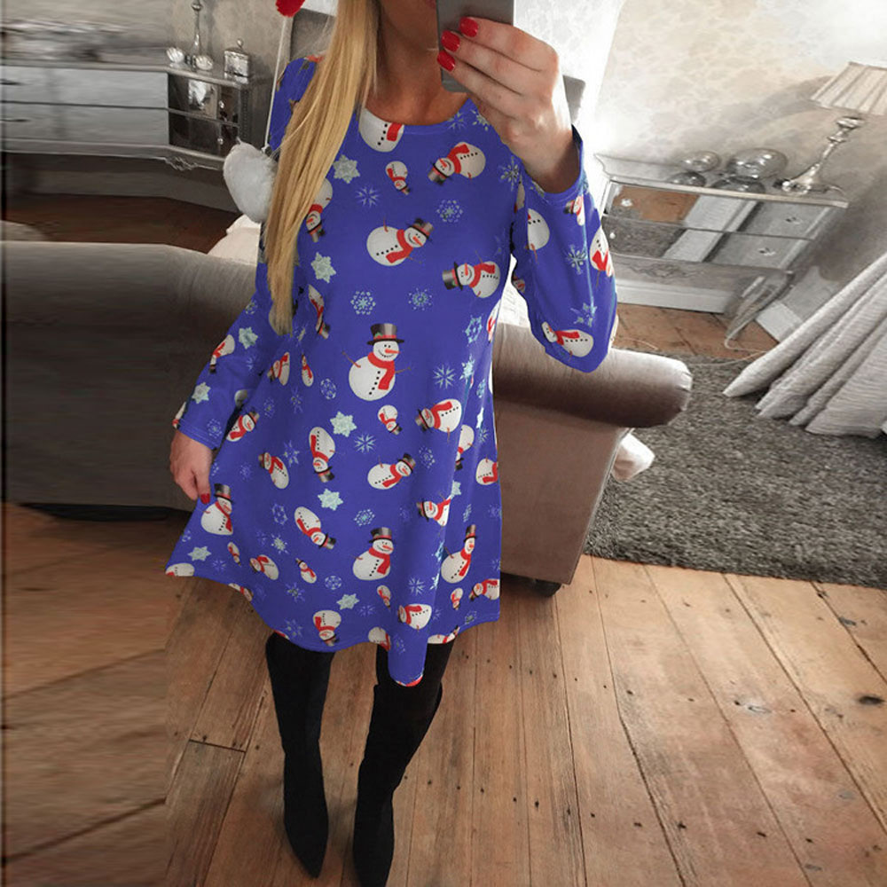 popular snowman print dress buy cheap snowman print dress lots