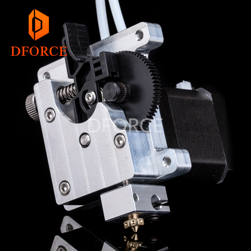 DFORCE TITAN AQUA EXTRUDER for 3d printer diy Upgrade water cooling titan extruder for e3d hotend for tevo 3d 3d printer parts tevo black widow titan step motor for titan extruder 3d printer extruder 42 42 23mm for j head bowden
