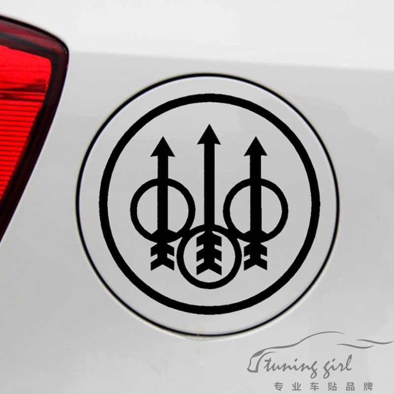 Car Stickers P. Beretta S.p.A Firearms Creative Decals For Fuel Tank Cap Vinyls Auto Tuning Styling 13x13cm 19x19cm D15