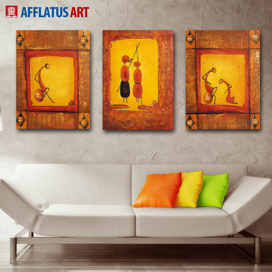 AFFLATUS Abstract Art Cuadros Modern Canvas Painting Vintage Wall Art Canvas Poster Wall Pictures For Living