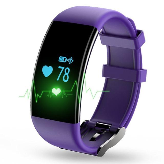 Brazalete libre monitor de ritmo cardíaco y rastreador de ejercicios y Fitness Inteligente pulsera de la frecuencia cardíaca impermeable para IOS Android Smartphone