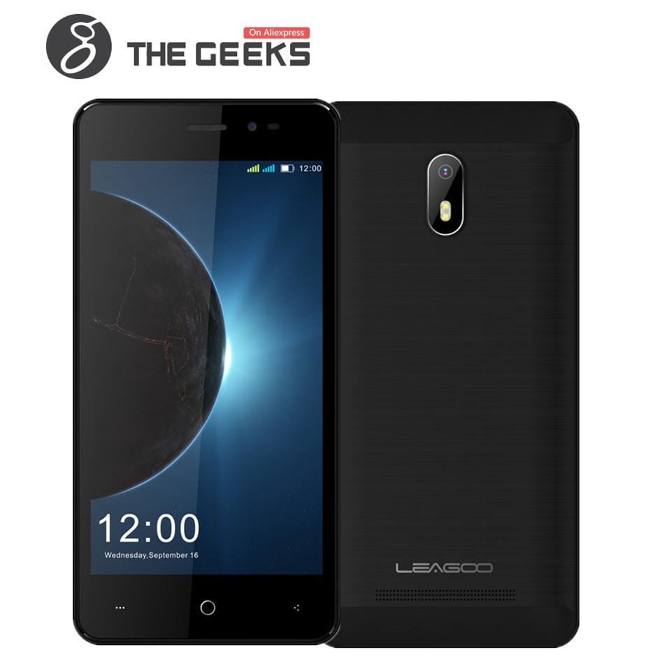 Original Leagoo Z6 Mobile Phone 1GB RAM 8GB ROM Mobile Phone MT6580M Quad Core 1.3G 4.97 Inch Screen Fingerprint 3G Smartphone