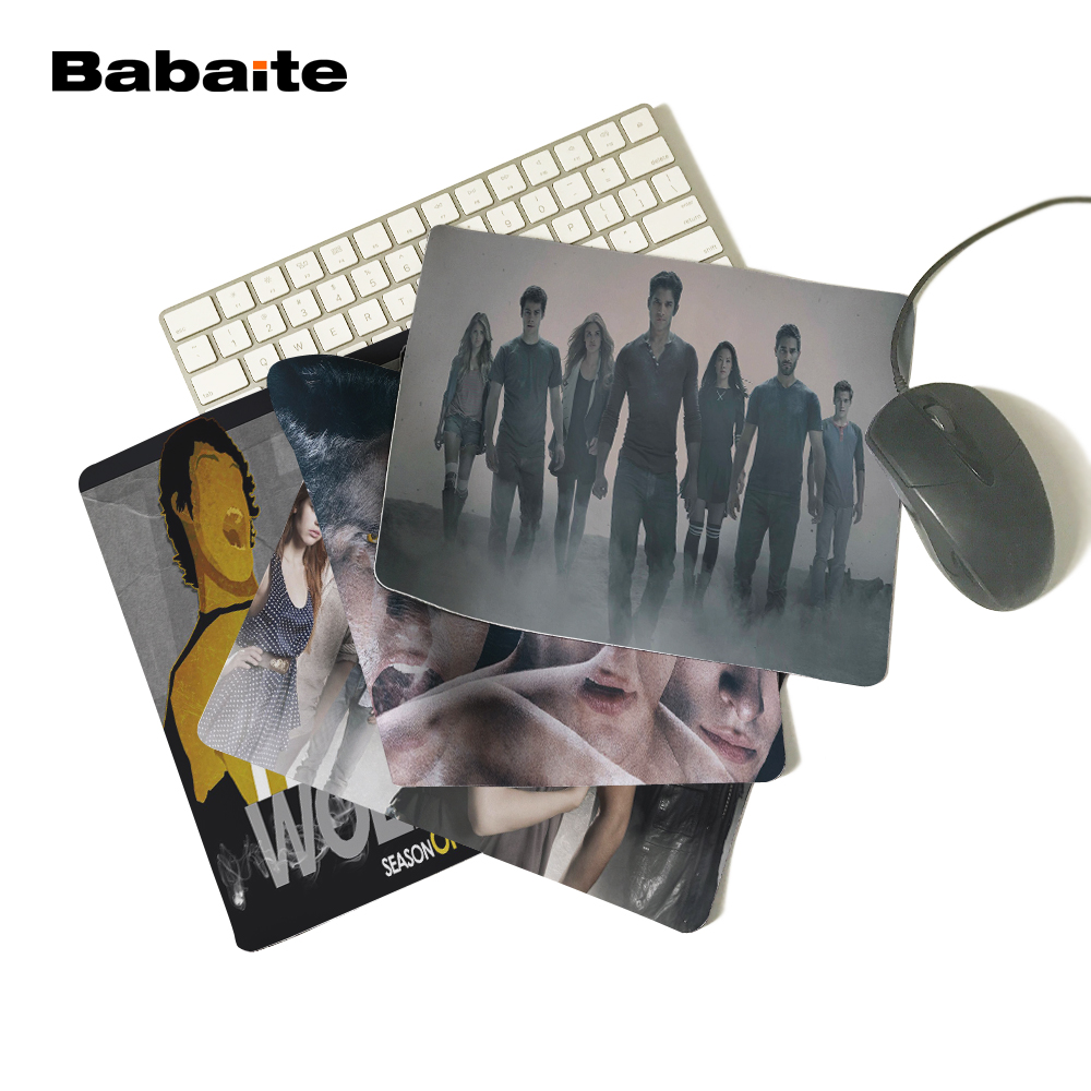 Babaite McCall Tyler Posey Teen Wolf Series Create Your Own Style Cool Dark Mouse Pad Computer Laptop Custom-made Mouse Mat Pad