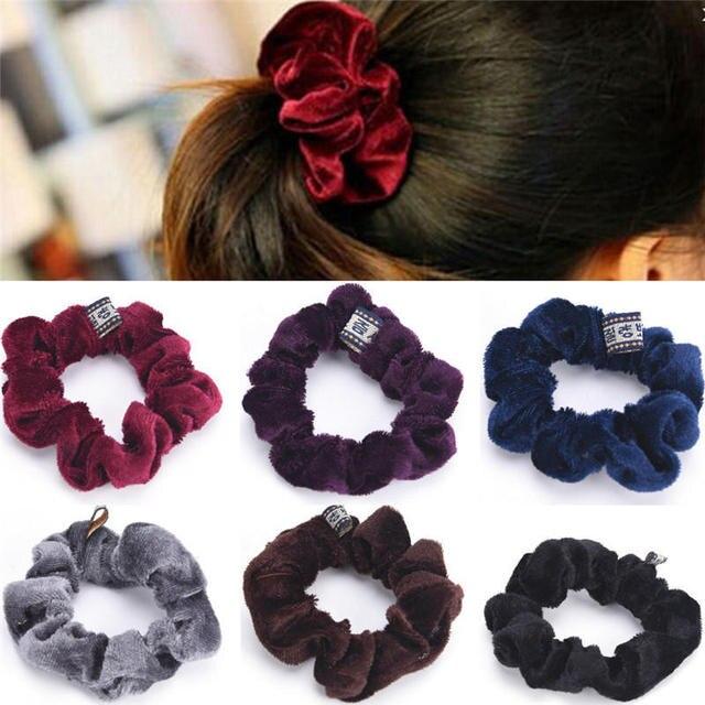 Haimeikang 2019 New Hair Rope Scrunchies Velvet Elastic Hair Ropes for Women Girls Hairband Ponytail Elastic Hair Band Hair Tie