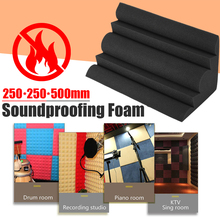 1Pcs 250x250x500mm Acoustic Bass Trap Acoustic Foam For Corner Wall Soundproof Sponge Studio Room Absorption Wedge Tiles Foam