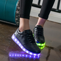 2016Colorful LED glowing shoes luminous male female fluorescent shoes Valentine's day USB rechargeable adult lit LED dance shoes
