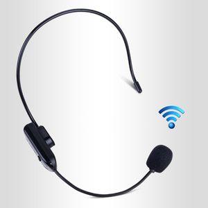 Image 1 - Черный портативный FM беспроводной микрофон, гарнитура, радио Мегафон Для гида, учебное пособие, лекции, принадлежности