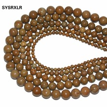 Wholesale New Top Quality Natural Wood Stripes Stone Beads For Jewelry Making DIY Bracelet Material 4 6 8 10 12 MM 15 Strand