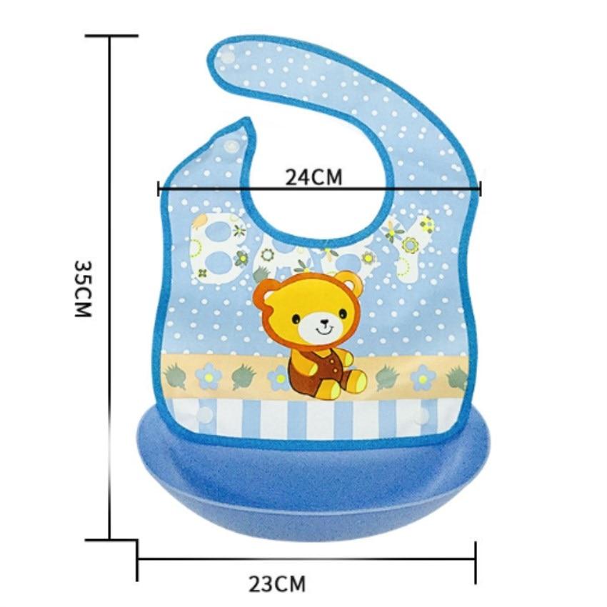 New Children Bib Burp Baby Todder Waterproof Art Smock Detachable Washavble Bibs Apron Cartoon Soft Feeding Baberos Bavoir Cloth