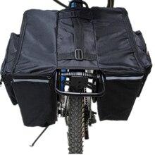 Waterproof Motorcycle Bicycle backseat Bag double side saddlebag Flat bag Travel Postman Newspaper package carriage rear bags