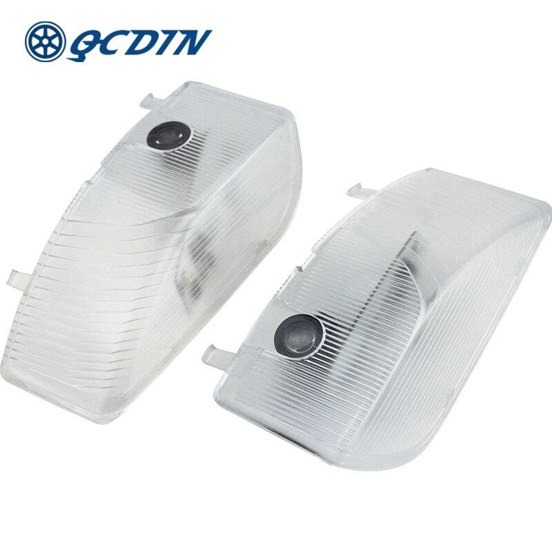 QCDIN Pair For MAZDA LED Car Door Welcome Light Logo Projector Light For MAZDA6 RX8 ATENZA CX-9 RUIYI MAZDA8 MPV