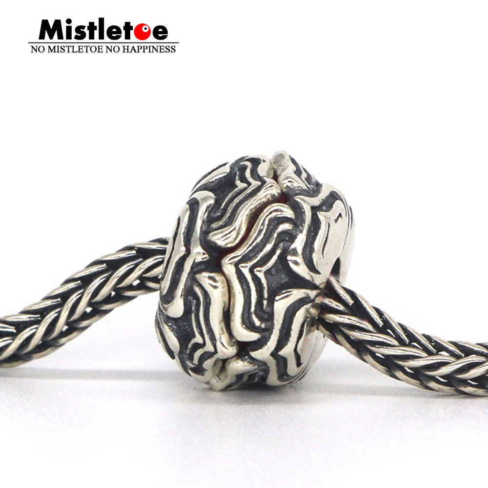 Mistletoe Genuine 925 Sterling Silver Datura Charm Bead Fit ACA OHM Troll And Pan Bracelet Jewelry Not Include The Glass Bead стоимость