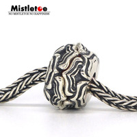 Mistletoe Genuine 925 Sterling Silver Datura Charm Bead Fit ACA OHM Troll And Pan Bracelet Jewelry Not Include The Glass Bead