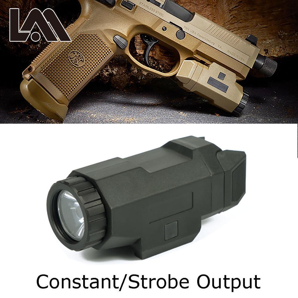 Arme tactique pistolet léger pistolet lumière Compact APL lampe de poche pour 20mm Picatinny Rail Mount fit AR 15 AK 47 74 Glock 17 19 18C