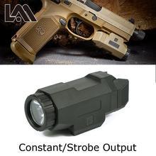 Tactical Scout Light Pistol Gun Light Compact APL Flashlight For 20mm Picatinny Rail Mount fit AR 15 AK 47 74 Glock 17 19 18C