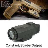 Tactische Scout Licht Pistool Licht Compact Apl Zaklamp Voor 20 Mm Picatinny Rail Mount Fit Ar 15 Ak 47 74 Glock 17 19 18C-in Wapenverlichting van sport & Entertainment op