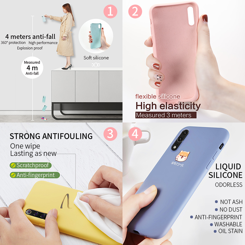 Original Cute Akita Dog Case For Huawei P30 Pro Case Cover Soft Liquid Silicone Case For P20 Lite P20 Pro Honor 8x Honor 10 Lite in Fitted Cases from Cellphones Telecommunications