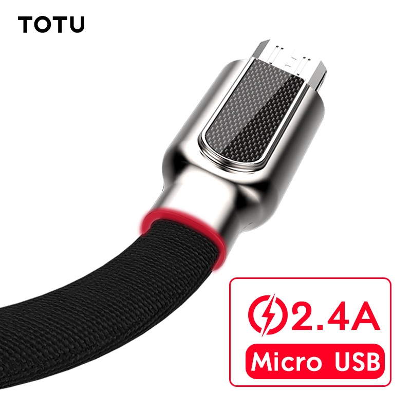 TOTU Micro USB Cable For Samsung Xiaomi Huawei Fast Charger USB Data Cable 1m Microusb Cha