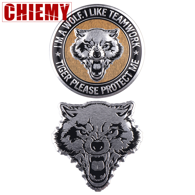 Car Styling Wolf Design Emblem Badge 3D Sticker For Motorcycle Motorbike Car Door Stickers Truck Helmet Decor Auto Accessories