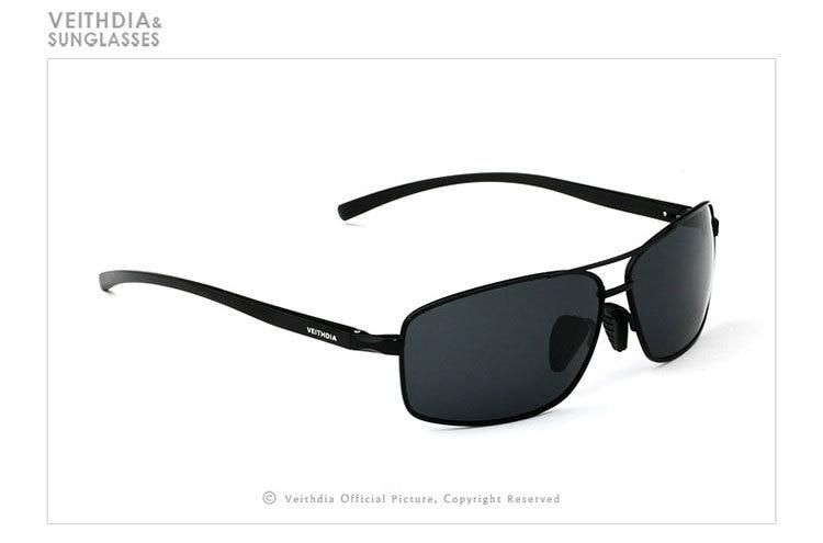 Стильные новые поляризованные мужские солнцезащитные спортивные очки. В наличие 3 цвета. Алюминевая оправа, мужские солнцезащитные очки для вождения. Очки, аксессуары для глаз. Артикул- 2458 - Цвет линз: Черный