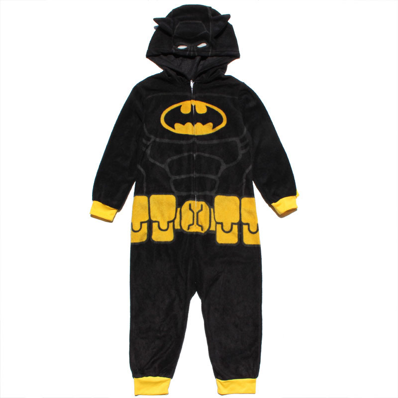 все цены на Batman Super Hero Boys kigurumi Kids Pajamas Children Onesie Cosplay Anime Animal Blanket Sleepers Winter Fleece Bathrobe