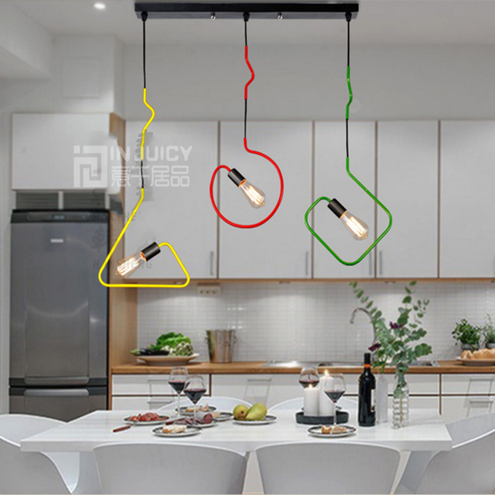 ФОТО Nordic Modern Simple E27 LED Iron Loft Ceiling Chandelier Pendant Lamp Droplight Cafe Bar Store Home Reading Room Decor New