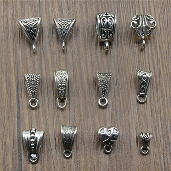 Connector Charms Bail Beads Antique Silver Color Bail Beads Charms Jewelry Findings