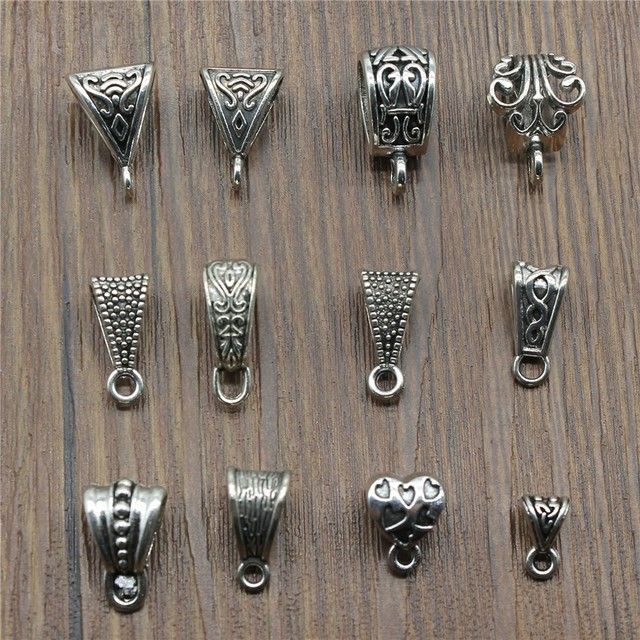 20 pz/lotto Connettore Pendenti e Ciondoli Bail Beads Argento Antico di Colore Beads Bail Pendenti e Ciondoli Risultati Dei Monili Fai Da Te Beads Bail Pendenti e Ciondoli Connettore