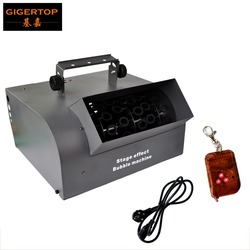 TIPTOP rolki maszyna do baniek mydlanych etap efekt DMX 512/bezprzewodowy pilot zdalnego sterowania dla Dj Disco Party klub nocny 200 W wysokiej mocy wyjście w Oświetlenie sceniczne od Lampy i oświetlenie na