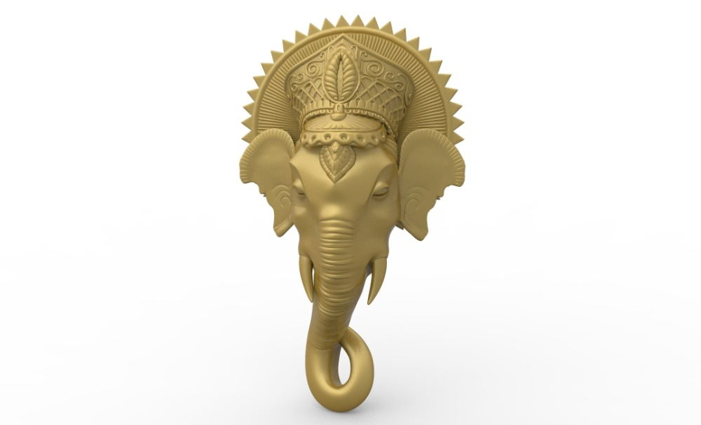 Elephant Head 3D Model Relief STL Model For CNC Router Carving Engraving Artcam Type3 Aspire M386