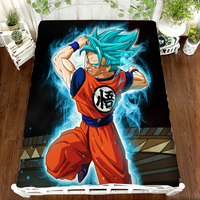 Dragon Ball Z Anime Printing Bed Sheet Super Saiyan Vegeta Son Goku Children Room Bed Sheet Bed Linen(NO cover pillowcase)